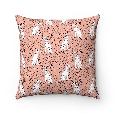 Rose Dalmations By A.Talese- Pillow Case