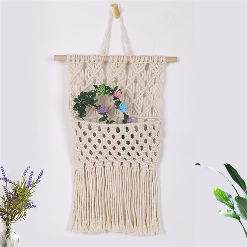 Macrame Hanging Wall Pocket