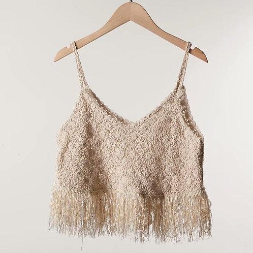 Knit Tassel Crop Top