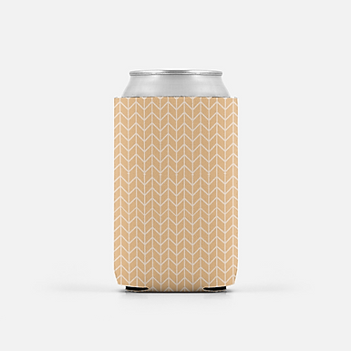 Set of 2 -Peach Chevron - Can Cooler