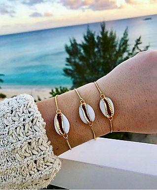 Natalia Cowrie Shell Adjustable Bracelet
