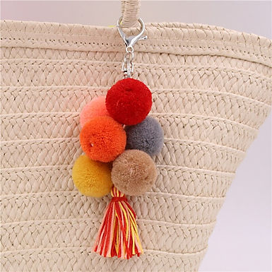 Pom Pom Bag Charms/ Keychain