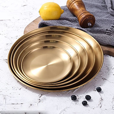 Great Gatsby Gold Dining  Dishes