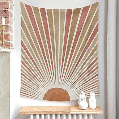 Boho Minimalist Art Tapestry