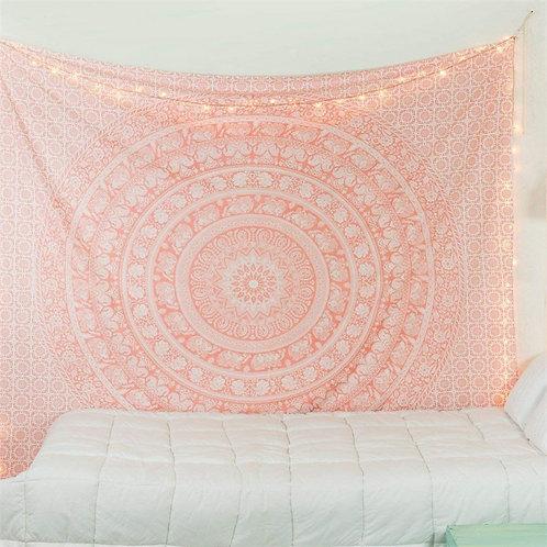 Bohemian Mandala Tapestry Pink or Black