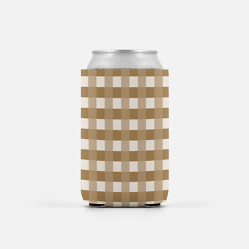 Set of 2- Buffalo Check - Can Coolers