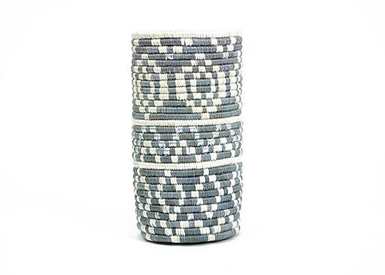 Metallic + Mirage Gray Diyama Vase