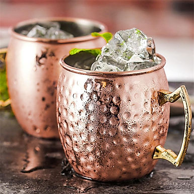 Stainless Steel Hammered Moscow Mule Mug