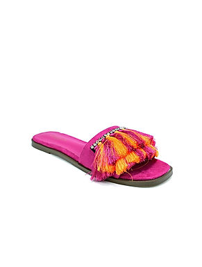 Hot Soles London Fringe Sliders