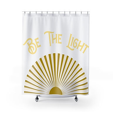 Be The Light By A.Talese - Shower Curtain