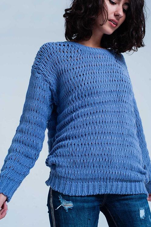Study Hall Drop Stitch Sweater