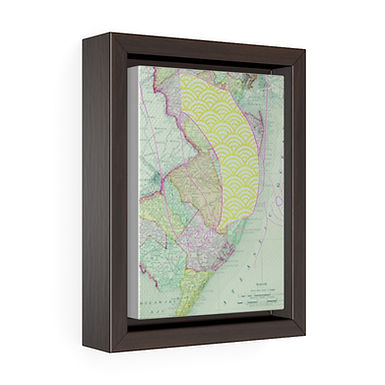 Down the Shore by A. Talese - Framed Gallery Wrap Print on Canvas