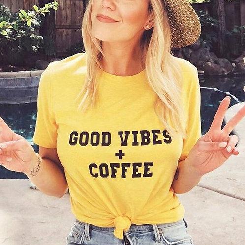 Good Vibes + Coffee  T-Shirt