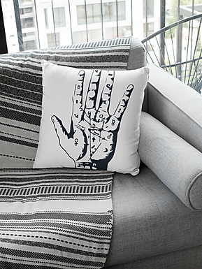 Talk To The Hand - Throw Pillow Case