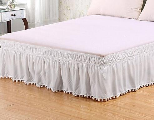 Pom-Pom Fringe Bed Skirt