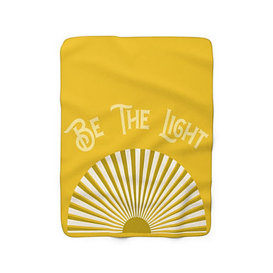 Be The Light By A.Talese - Throw Blanket