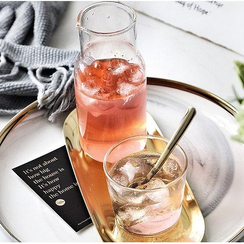 Sleek & Simple  Glass Beverage Serving Jug