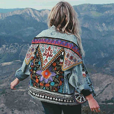 All Over Wild Child Boho Denim Jacket