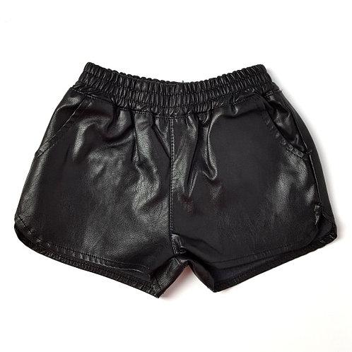 Bebe Girl Faux  Leathe Shorts