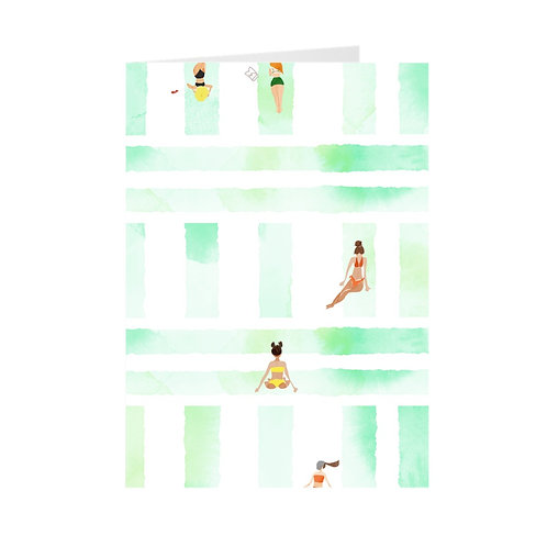 Set of 5 Greeting Cards- Bikini Season By A.Talese