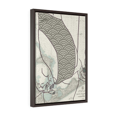Long Island by A. Talese -  Framed Gallery Wrap  Print on Canvas