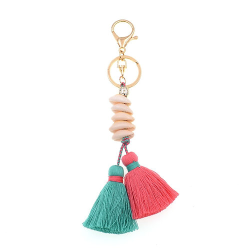 Shell Beach Keychain / Bag Charm