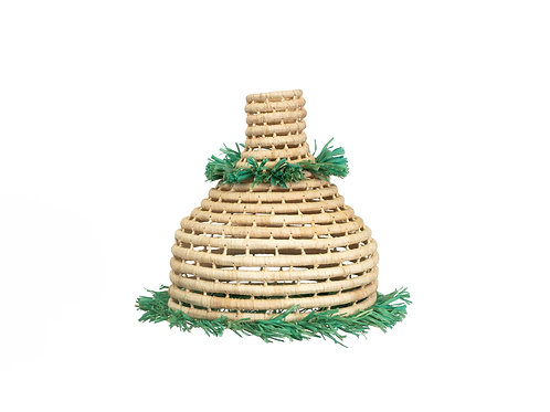 Raffia Fringed Meadow Lamp Pendant II