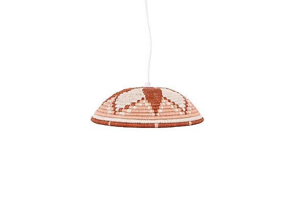 Dusty Peach Lamp Pendant - Large