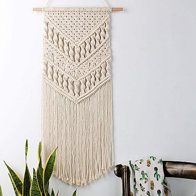 Chic Chevron Woven Wall Tapestry
