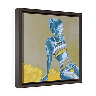 Heat Wave by A. Talese - Framed Gallery Wrapped Print on Canvas