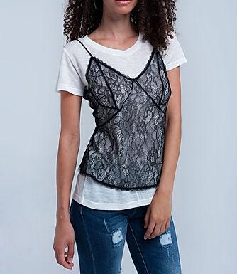 Black Widow Layering Cami & T-Shirt Set