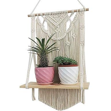 La Playa Rosa Macrame Shelf