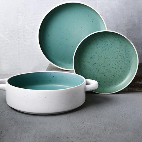 Earthen Ceramic Double Ear Deep Dish