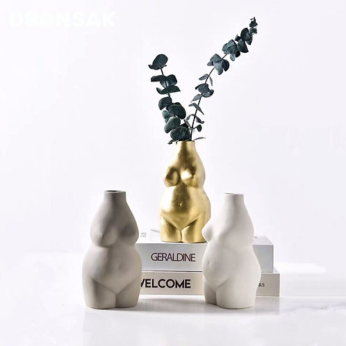 Ceramic Nude Figure Plant Vase