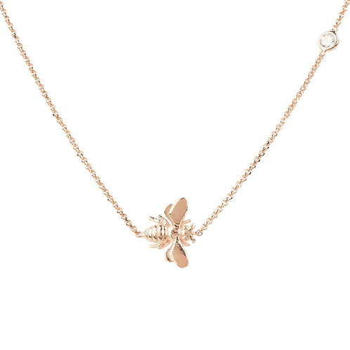Queen Bee  Rose Gold Necklace
