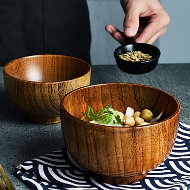 Authentic Japanese Style Wooden Bowls