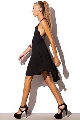 Black Dress With v Back