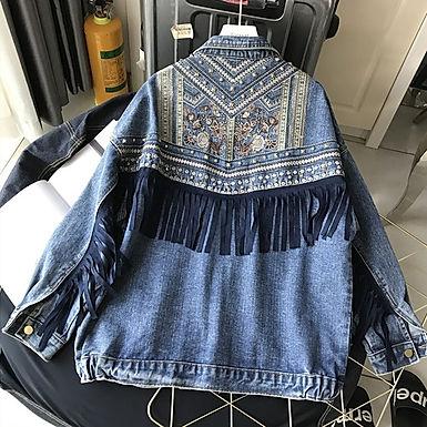 Punky Brewster Embroidered Denim Jacket