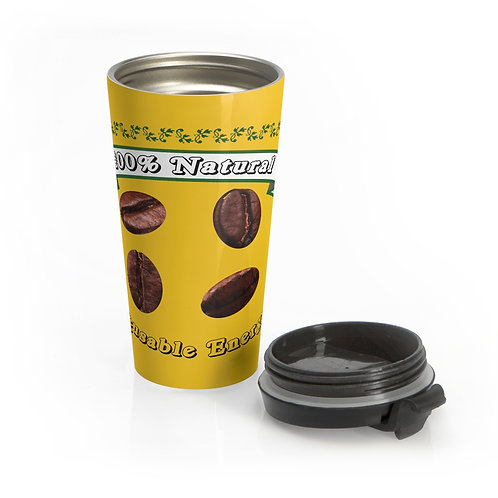 Reusable Energy By A.Talese - Stainless Steel Travel Mug