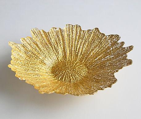 "Gypsy Gold  16"" Gold Centerpiece Bowl"