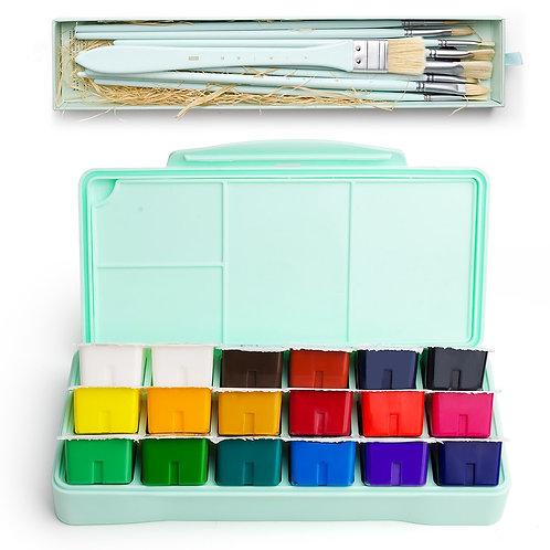 MIYA 18 Colors Gouache Paint Set  -Non Toxic
