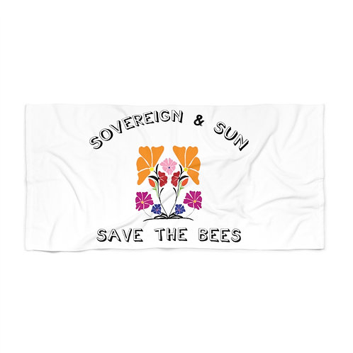 Sovereign & Sun ' Save the Bees' by A. Talese - Beach Towel
