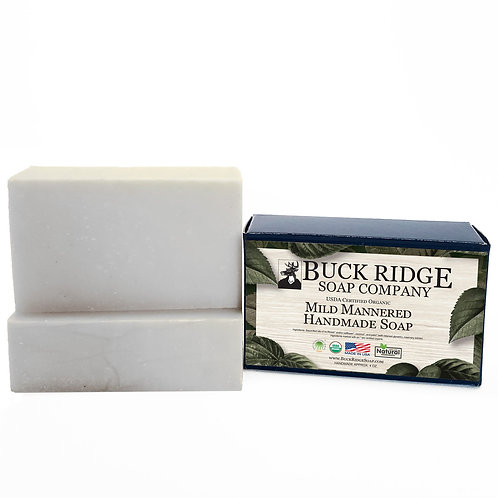 Mild Mannered Men's Handmade Soap - USDA Certified Organic