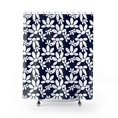 Oopsy Daisy by A.Talese - Shower Curtain ( Midnight )