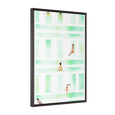 Bikini Season by A. Talese - Framed Gallery Wrap Print on Canvas