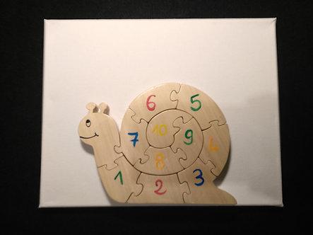 Escargot chiffres lettres couleurs