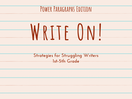 Write On! Strategies for Struggling Writers FREE E-Book