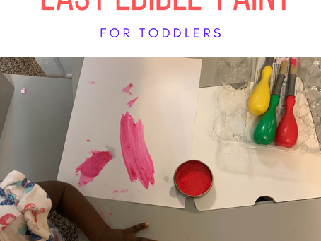 Easy Edible Paint for Toddlers
