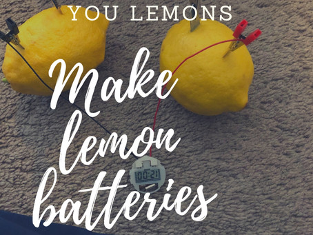 When Life Gives You Lemons, Make Lemon Batteries!
