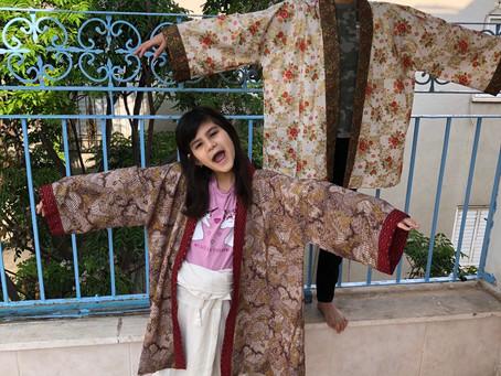 Wearing Grandma's Sylvia Robes